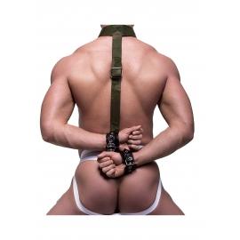 HARNAIS BDSM AVEC MENOTTES MAINTIEN DANS LE DOS