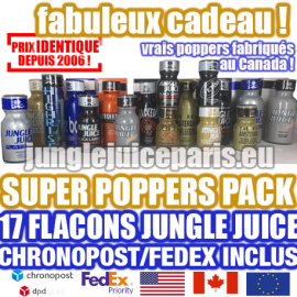 SUPER POPPERS PACK FEDEX INCLUDED USA CANADA EUROPE