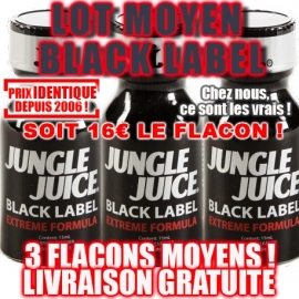 LOT 3 JUNGLE JUICE BLACK LABEL MOYEN