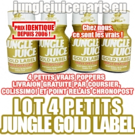LOT 4 PETITS POPPERS JUNGLE JUICE GOLD LABEL