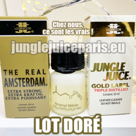 LOT DORE 3 POPPERS PUISSANTS